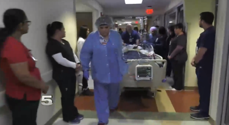 At the end of the walk, those organs are removed from the body to be used to save another life.